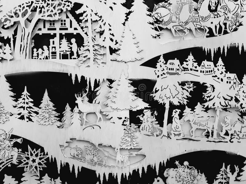 Escena de los cuentos de hadas del invierno fotos de archivo