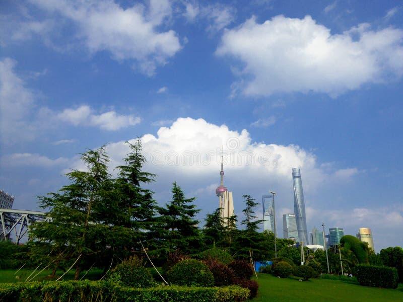 Escena de Lujiazui en Shangai foto de archivo