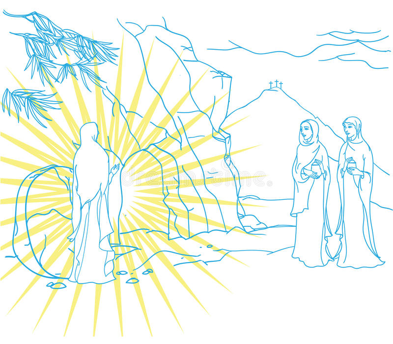 Escena de Mary Magdalene ilustración del vector