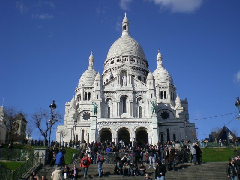 Escena de Montmartre imágenes de archivo libres de regalías