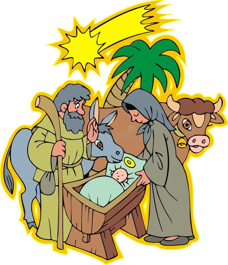 Escena de Navidad stock de ilustración