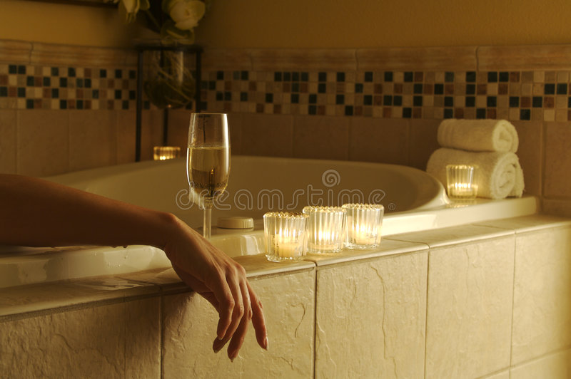 Escena de relajación de la bañera fotos de archivo