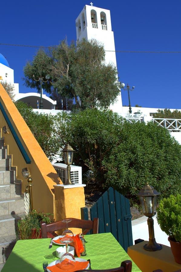 Escena de Santorini foto de archivo