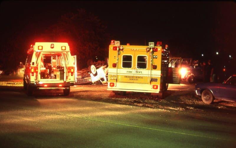 Escena del accidente foto de archivo libre de regalías
