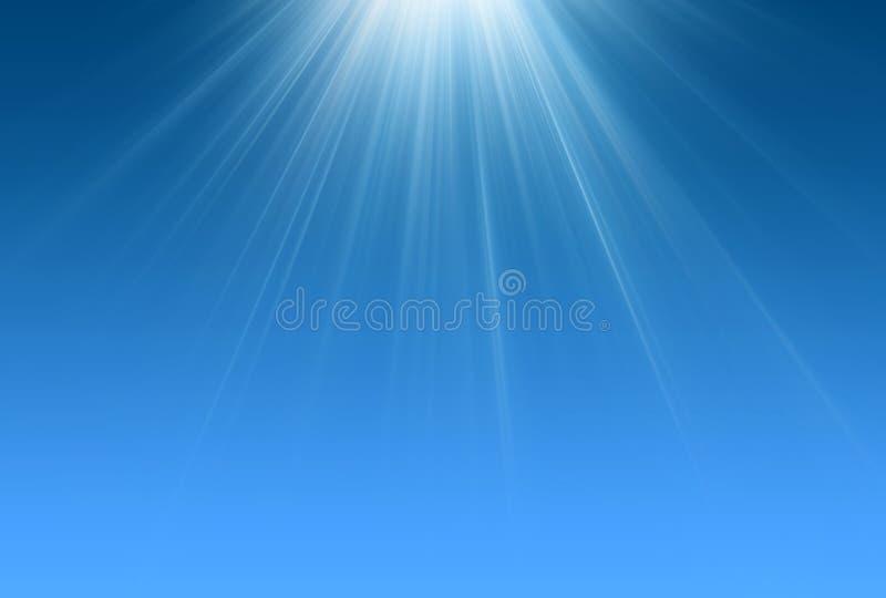 Escena del azul de los rayos ligeros stock de ilustración