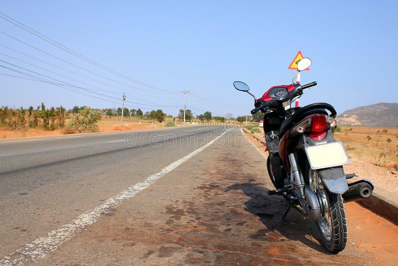 Escena del camino de la moto en Vietnam imagen de archivo libre de regalías