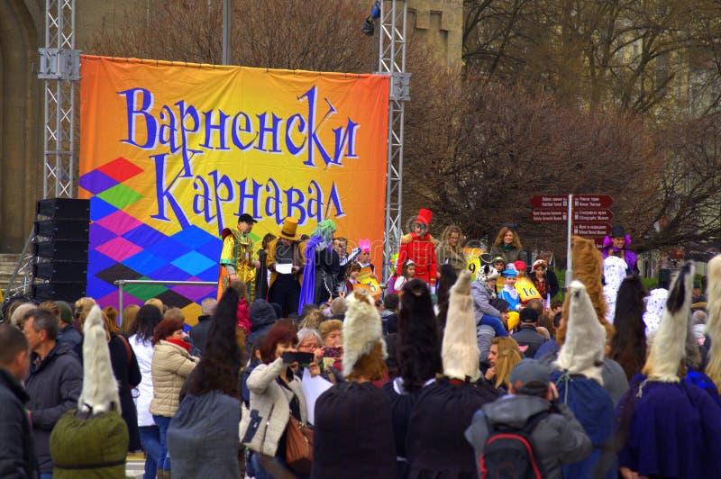 Escena del carnaval de Varna imagenes de archivo