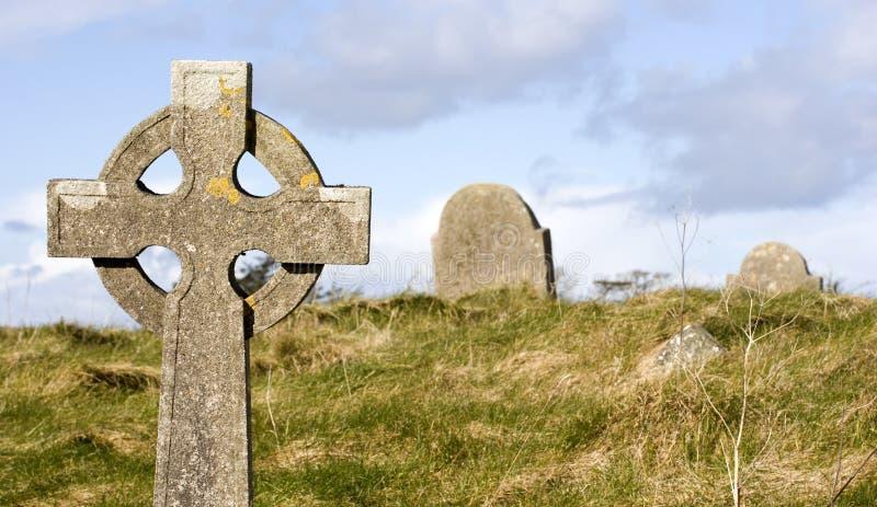 Escena del cementerio imagenes de archivo