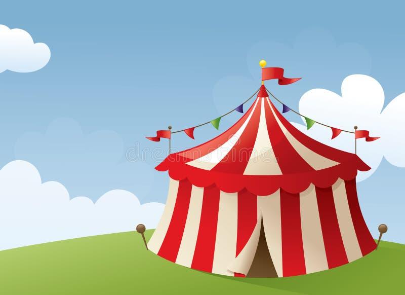 Escena del circo ilustración del vector