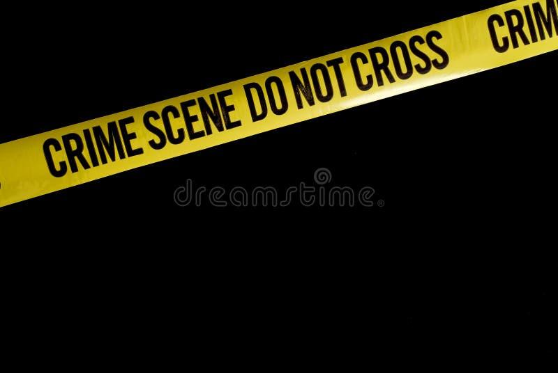 Escena del crimen fotografía de archivo