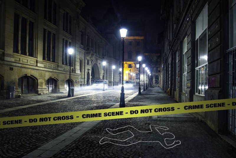 Escena del crimen fotos de archivo libres de regalías