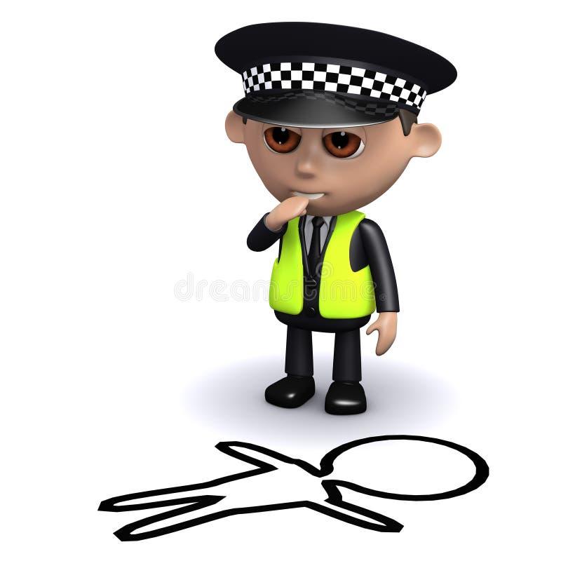 escena del crimen de la policía 3d stock de ilustración