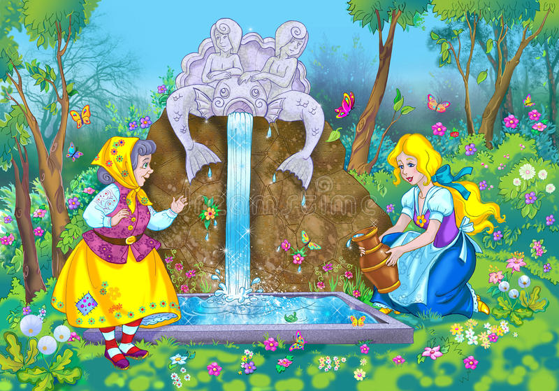 Escena del cuento de hadas libre illustration