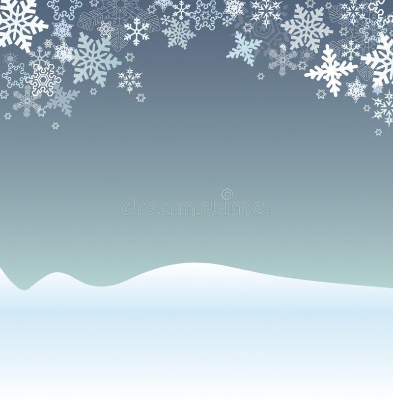 Escena del día de fiesta de invierno stock de ilustración