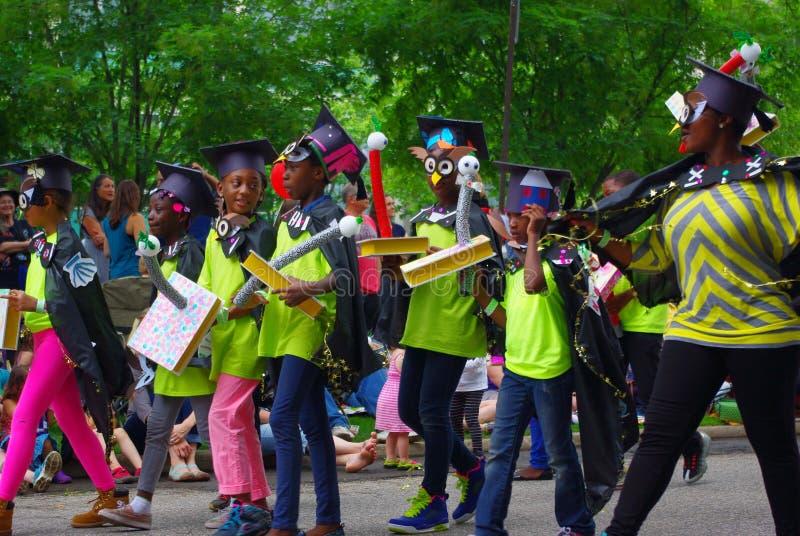 Escena del desfile fotos de archivo