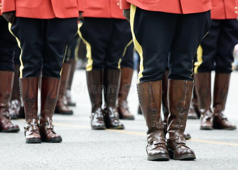 Escena del desfile de RCMP fotografía de archivo