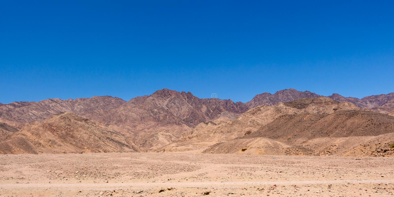 Escena del desierto de Egipto imagen de archivo libre de regalías