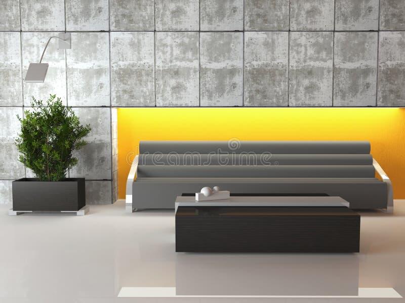 Escena del diseño del sitio ultra moderno del salón. stock de ilustración