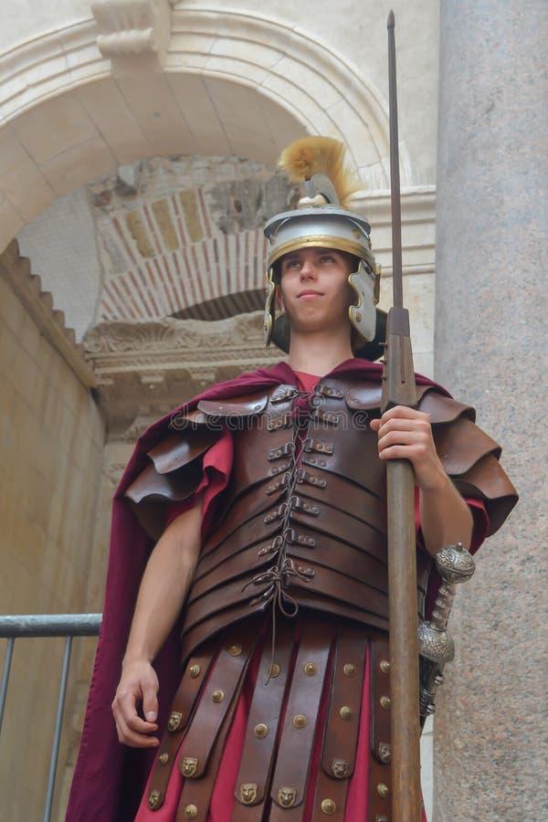 Escena del emperador de Roma en el palacio de Diocletian en fractura el 15 de junio de 2019 imagen de archivo libre de regalías