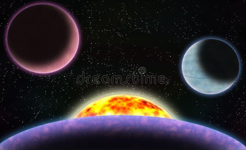 Escena del espacio de la ciencia ficción libre illustration