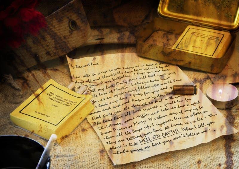 Escena del foso de la guerra mundial 1 fotografía de archivo libre de regalías