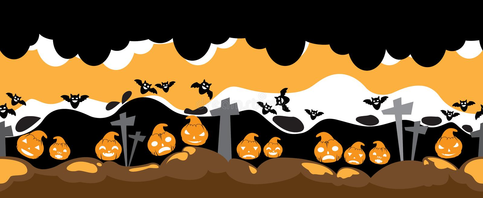 Escena del horror del vector de Halloween libre illustration