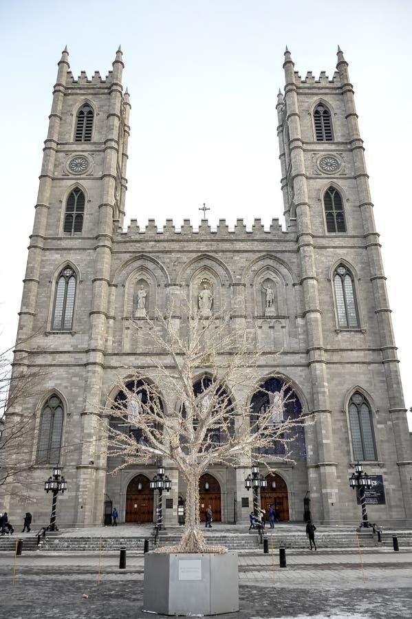 Escena del invierno en Montreal vieja histórica imagen de archivo libre de regalías
