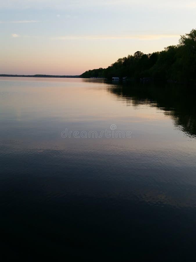 Escena del lago fotografía de archivo