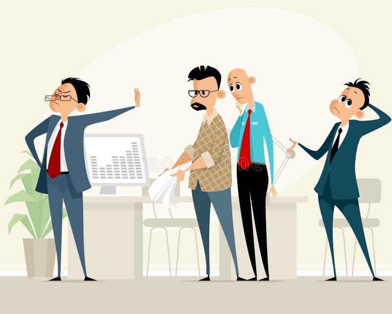Escena del negocio en oficina libre illustration