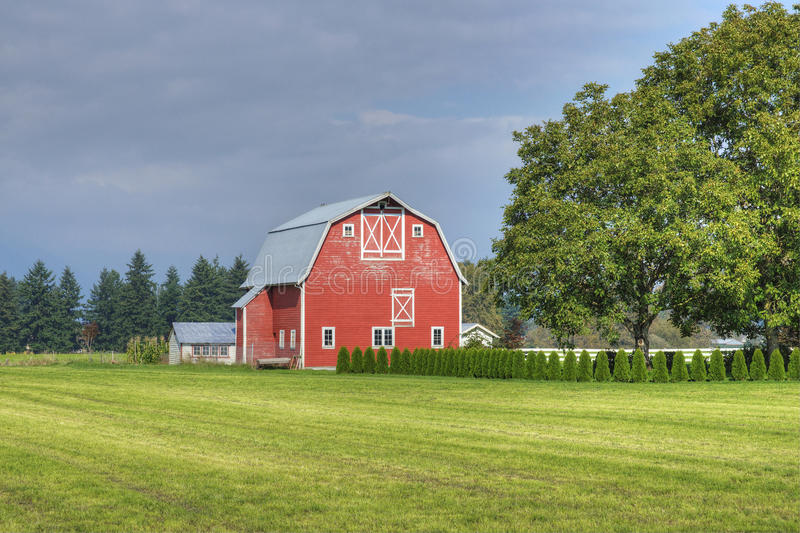 Escena del país de la granja fotografía de archivo libre de regalías