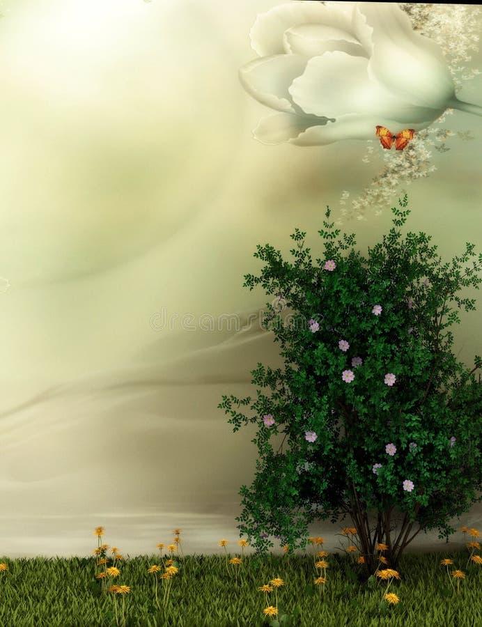 Escena del paisaje de la fantasía stock de ilustración