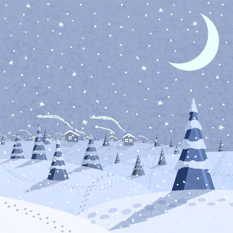 Escena del paisaje del invierno libre illustration