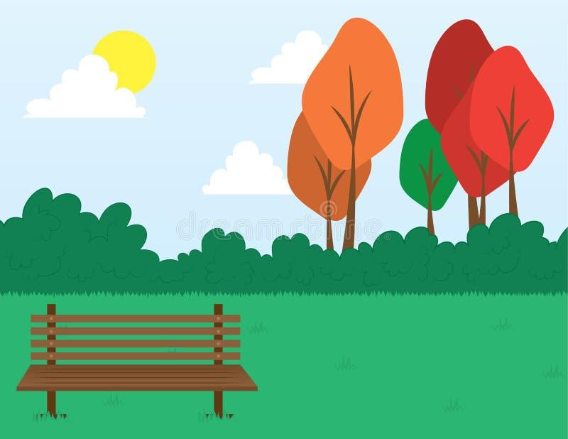 Escena del parque stock de ilustración