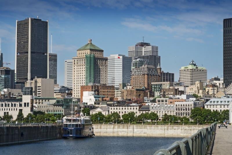 Escena del puerto viejo de Montreal fotografía de archivo