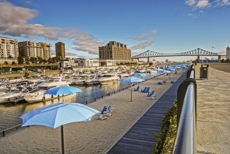 Escena del puerto viejo de Montreal imagen de archivo libre de regalías