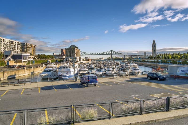 Escena del puerto viejo de Montreal imágenes de archivo libres de regalías