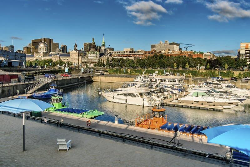 Escena del puerto viejo de Montreal imagen de archivo