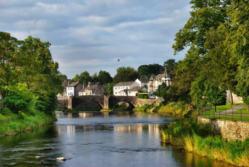Escena del río de Kendal fotografía de archivo