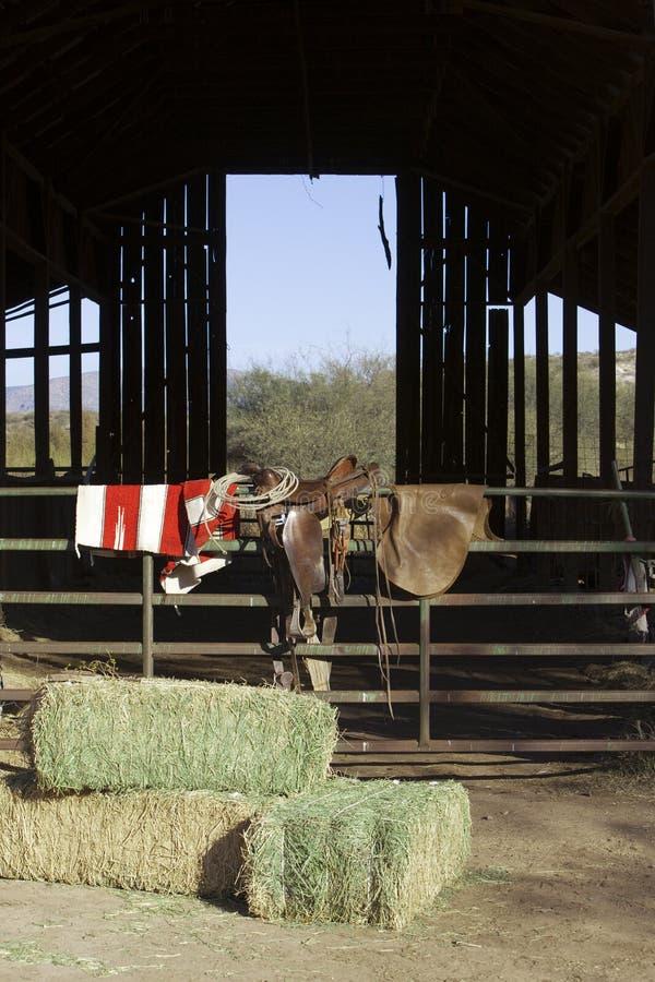 Escena del rancho fotografía de archivo