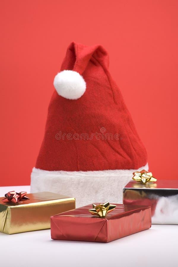 Escena del regalo de la Navidad fotografía de archivo libre de regalías