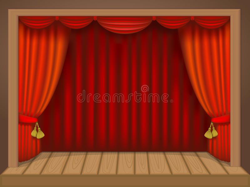 Escena del teatro stock de ilustración