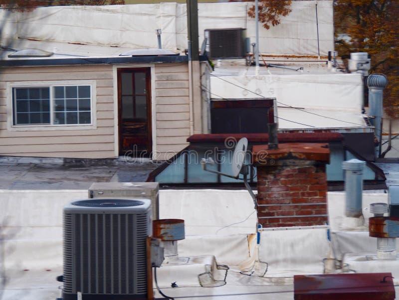 Escena del tejado imagenes de archivo