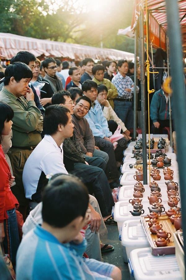 Escena en un mercado chino, ciudad de Hsinchu de Taiwán imágenes de archivo libres de regalías