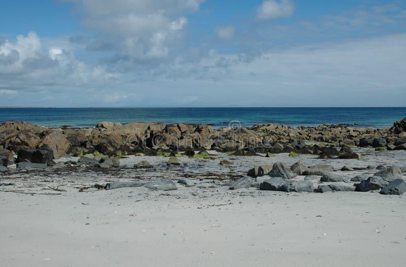 Escena escocesa de la playa imagen de archivo