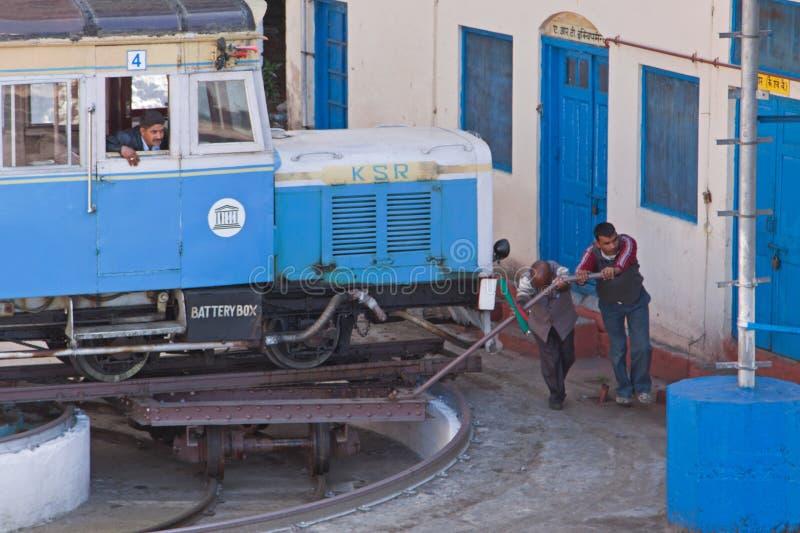 Escena ferroviaria india fotos de archivo
