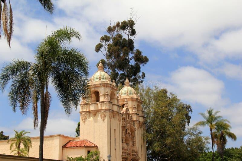 Escena hermosa con visiones de invitación, parque del balboa, San Diego, California, 2016 imagen de archivo libre de regalías