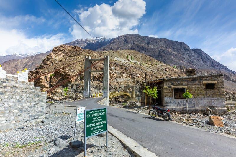Escena hermosa del otoño a lo largo de la carretera de Karakorum fotografía de archivo