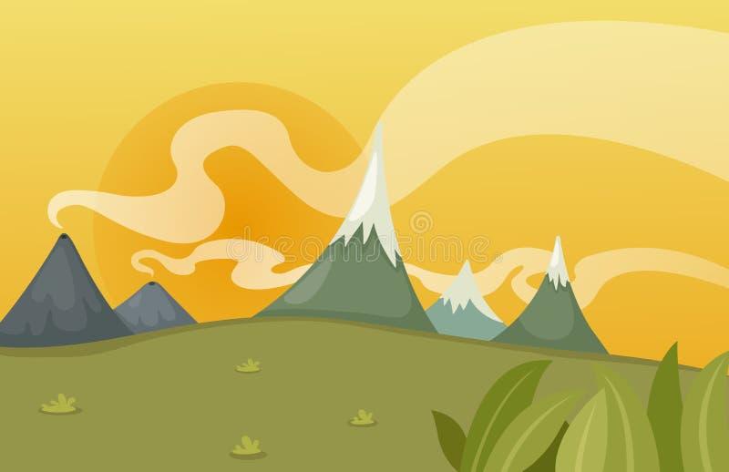 Download Escena hermosa del paisaje ilustración del vector. Ilustración de imagen - 42434274