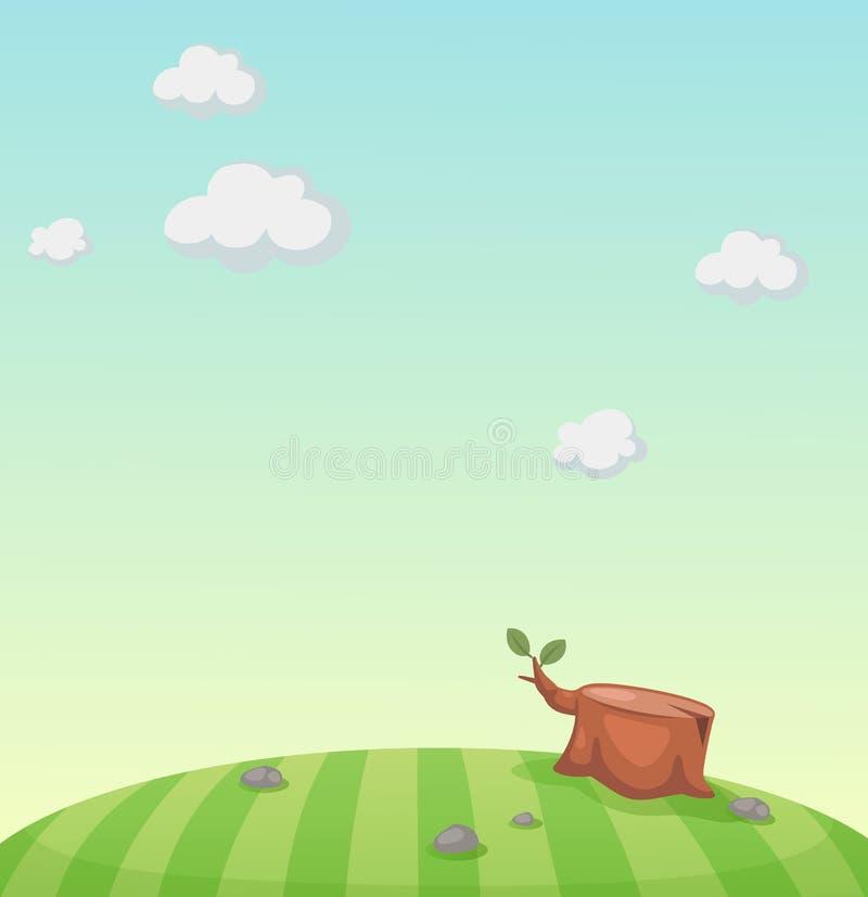 Download Escena hermosa del paisaje ilustración del vector. Ilustración de selva - 42434363