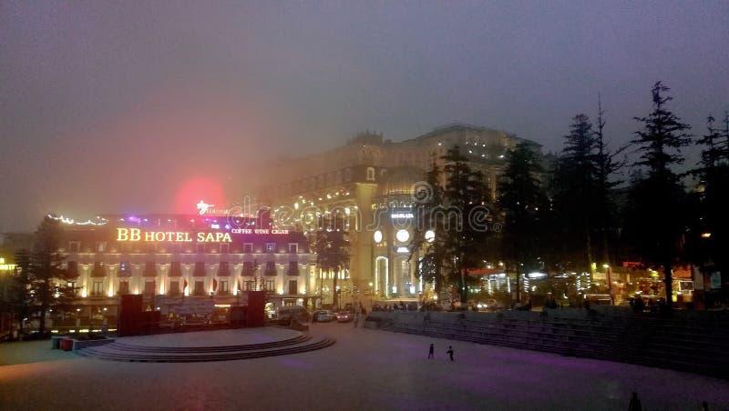 Escena hermosa en la ciudad de SaPa fotos de archivo